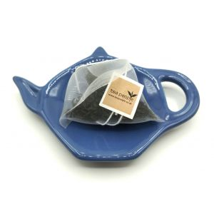 Ceramic Teabag Dish-Blue