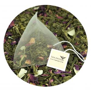 Coconut Rose Green Tea pyramid