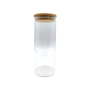 Clear glass display jar