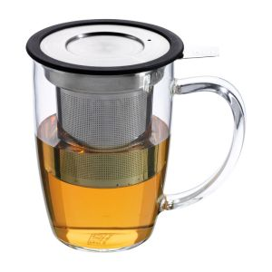 Newleaf infuser mug black
