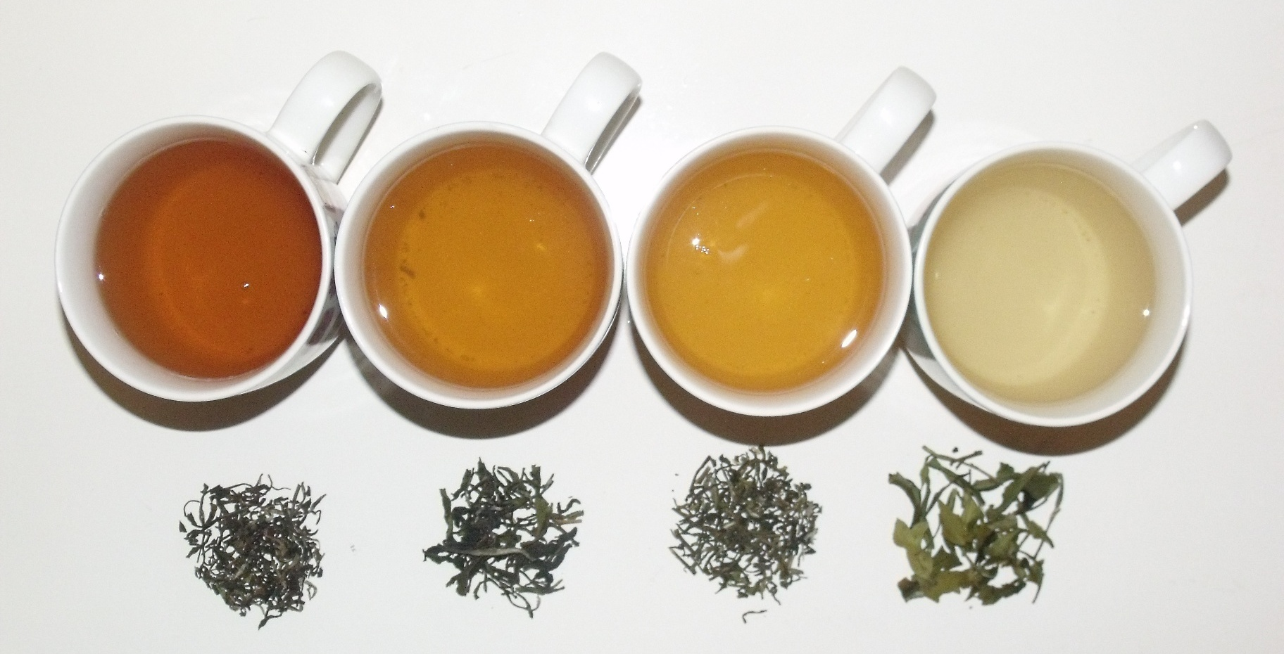 Different teas in cups